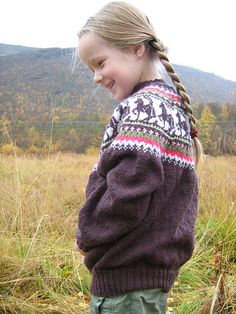 Ravelry: Hege's Sweater with horses Sweater Knitting Patterns, Knitting Yarn, Icelandic Sweaters, Fair Isle Pattern, Horse Girl, Girls Sweaters, Crochet Projects, Doll Clothes, Knit Crochet