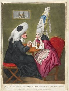 Miss Prattle, consulting Doctor Double Fee about her Pantheon Head Dress 1771 by peacay