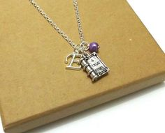 Book Necklace Book Charm Necklace Book Jewellery by FunkyPinks