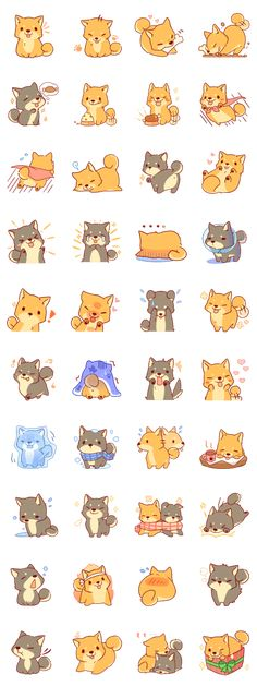 It is a Sticker of Japanese Shiba inu