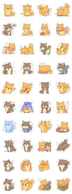 It is a Sticker of Japanese Shiba inu