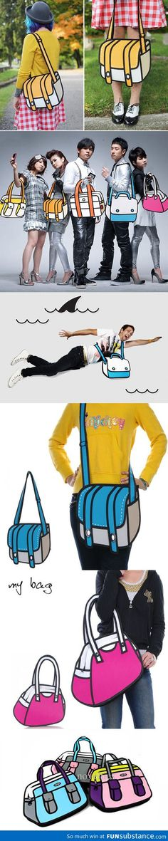 More cartoon looking bags I WANT ONE!