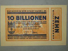 Billete de 10 billones de marcos de 1923