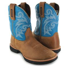 Rocky Boots RKW0219 M LT Brown Turquoise Westernstiefel - braun türkis Rocky Boots, Fashion Boots, Cowboy Boots, Shoes, Get Tan, Zapatos, Shoes Outlet, Footwear, Shoe