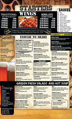 bar menus   Menu   Brewers Restaurant & Sports Bar