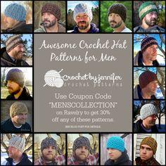 Crochet Patterns by Jennifer: Awesome Crochet Hat Patterns for Men