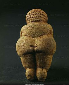 Venus of Willendorf. Carved out of limestone, 11cm tall, discovered at an excavation in Willendorf, Lower Austria on 7 August 1908