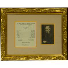 An opera collectible: a vintage autographed photo of Jules Massenet with a musical quotation from his opera Manon,  beautifully matted and framed with a Met program of this opera from March 11, 1931.   http://www.metoperashop.org/shop/jules-massenet-autograph-and-musical-quotation-from-manon-11319