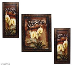 Paintings & Posters Floral Paintings (Set Of 3) Material: Wood & Plastic Size: (L x W) - Frame 1 - 5.2 in x 12.5 in Frame 2 - 9.5 in x 12.5 in Frame 3 - 5.2 in x 12.5 in Description: It Has 3 Pieces Of Wall Paintings Work: Printed Note: Glass Not Included Country of Origin: India Sizes Available: Free Size   Catalog Rating: ★4.1 (490)  Catalog Name: Spiritual Wall Paintings Vol 20 CatalogID_55286 C127-SC1611 Code: 513-502066-756