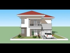 Floor Plan App, Floor Plans, Google Sketchup, Home Fashion, Little Houses, Minimalist Home, Rooftop, House Plans, House Design
