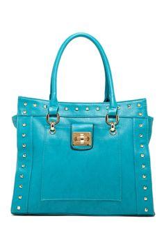 Studded Turn-Lock Tote #handbag #purse