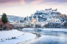 Daytime Snowy Salzburg