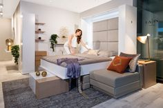 Get more space for living with our transformable furniture. Murphy Bed, Couch, Sofa Bed, Sleep, House Design, Compact Living, Interior, Wall, Apartments