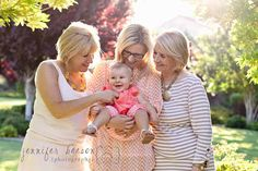 4 generations- Jennifer Beeson Photography- I would love to have something like this with my two girls!