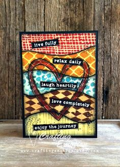 Handmade Inspirational Greeting Card by Crafting Emotion $12.00AUD