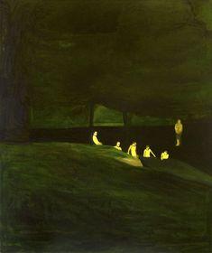 Hrvoje Majer (Croatian, b. Swimmers, Oil on canvas, 120 x 100 cm. Painting Inspiration, Art Inspo, Paolo Roversi, Arte Popular, Art Graphique, 2d Art, Nocturne, Surreal Art, Figure Painting