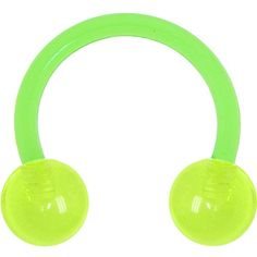 BIOPLAST Green GLOW in the DARK Circular Horse Shoe | Body Candy Body Jewelry #bodycandy
