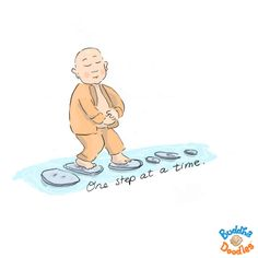Buddha Doodle - one step at a time