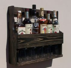 pallet liquor rack. 6 Bottle Wall Mount Liquor Rack With Shelf Which By RusticCreation Pallet T