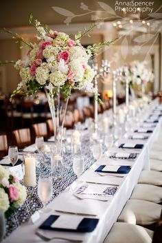 patterned blue table runners