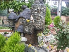 Giant Fairy Mansions...Donzelle's Garden Center, Akron Ohio
