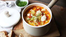 Kveite er en fantastisk råvare og i en kremet suppe med chorizo smaker den himmelsk!