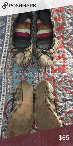 COACH flats Super cute Coach flats. Look brand new- in perfect condition. Coach Shoes Flats & Loafers