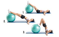Do stability ball curls to hit the hamstrings, butt, abs, and lower back simultaneously. FOCUS! They're difficult.
