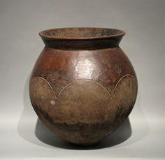 Africa | Beer brewing ceramic vessel.  Lobi or Bobo people.  Burkina Faso | 20th century.
