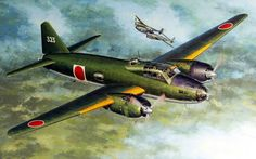 Mitsubishi G4M1 Type 1 Model 11 Betty flying Admiral Yamamoto 18April 1943