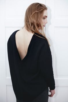 THE ODDER SIDE V-back sweatshirt. Shop at www.theodderside.com