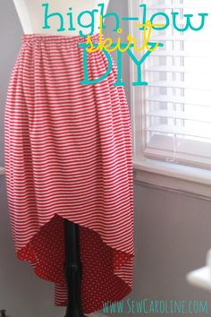 rouge & whimsy: how to sew a hi-low skirt from sew caroline