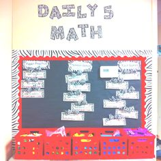 Daily 5 Math Board. Math game tags have what they need on front & direction on the back.