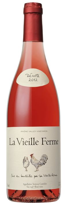 """La Vieille Ferme Rosé 2012.   """"This ultra-ripe, grenache-based Rhône blend delivers masses of juicy, pepper-infused black-cherry fruit."""" Something for the Weekend. The Independent"""
