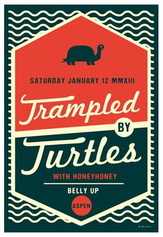Scrojo Trampled by Turtles Poster