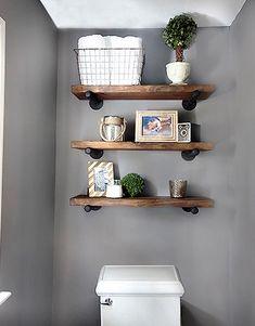 DIY para baldas de madera