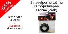 Żaroodporna taśma samoprzylepna - Czarna (2mb). Stosowana jako uszczelka do uszczelniania szyb pieców w drzwiczkach i otworach pieców grzewczych wykonana z wysokiej jakości włókien szklanych.  Teraz w naszym sklepie 66% taniej: http://sklep.vitcas.pl/pl/p/Zaroodporna-tasma-samoprzylepna-Czarna-2mb-/120