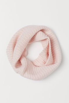 Tube scarf in a soft rib knit with glittery threads. Light Pink Rose, Rose Gold Color, Girls Hair Accessories, Party Accessories, Tube Scarf, H&m Home, H&m Gifts, Cool Hats, Fashion Company