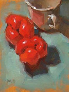 "Daily Paintworks - ""Bell Bottoms --- SOLD"" - Original Fine Art for Sale - © Carol Marine"