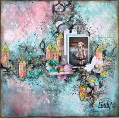Featured project - March 2017 Mixed Media Place challenge - created by Elena Martynova