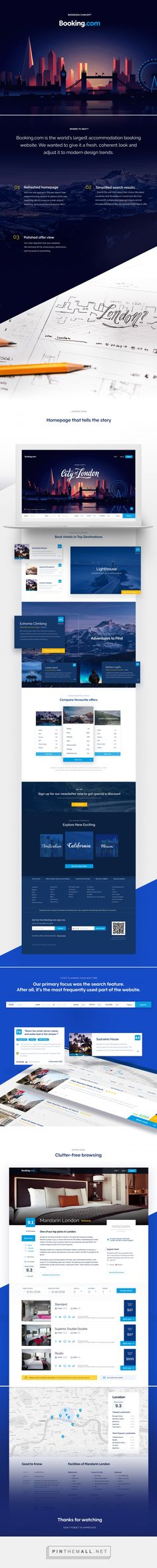 Booking.com redesign on Behance - created via https://pinthemall.net