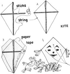 diy kite designs how to make a kite fun kids pinterest kites