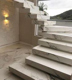 Stair railing ideas - A full directory of interior stair railing ideas, the correct component to utilize according to your stairs Interior Stair Railing, Railing Design, Staircase Design, Railing Ideas, Marble Stairs, Stairs Architecture, Modern Stairs, House Stairs, Stairway To Heaven