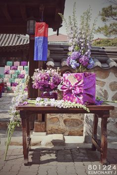 wedding idea.   함(ham) +청사초롱(cheongsachorong)