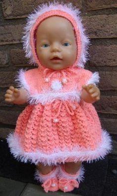 Baby Born Clothes, American Girl Clothes, Girl Doll Clothes, Girl Dolls, Baby Dolls, Knitted Doll Patterns, Knitted Dolls, Baby Knitting Patterns, Knitting Dolls Clothes