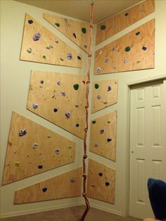 Kids bedroom rock wall