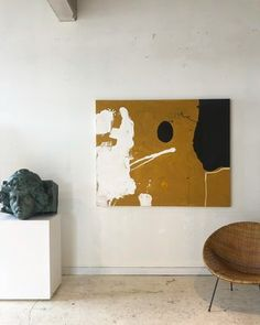 Home Tour: William McLure's 'Bright, Open, Airy' Alabama Tudor — The Maryn Abstract Oil, Abstract Canvas, Abstract Landscape, Large Painting, Sculpture Art, Animal Sculptures, Large Art, Painting Inspiration, Art Boards