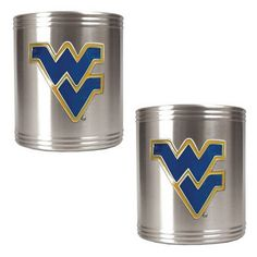West Virginia Mountaineers 2-pc. Stainless Steel Can Holder Set $32.35