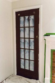 The Best Trick for Painting French Doors - Bless'er House Small Basement Remodel, Basement Remodeling, Basement Storage, Remodeling Ideas, Kitchen Remodel, Finish Basement Ceiling, Basement Band, Basement Entrance, Basement Flooring