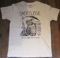 SACRILEGE Tシャツ OUT OF SIGHT